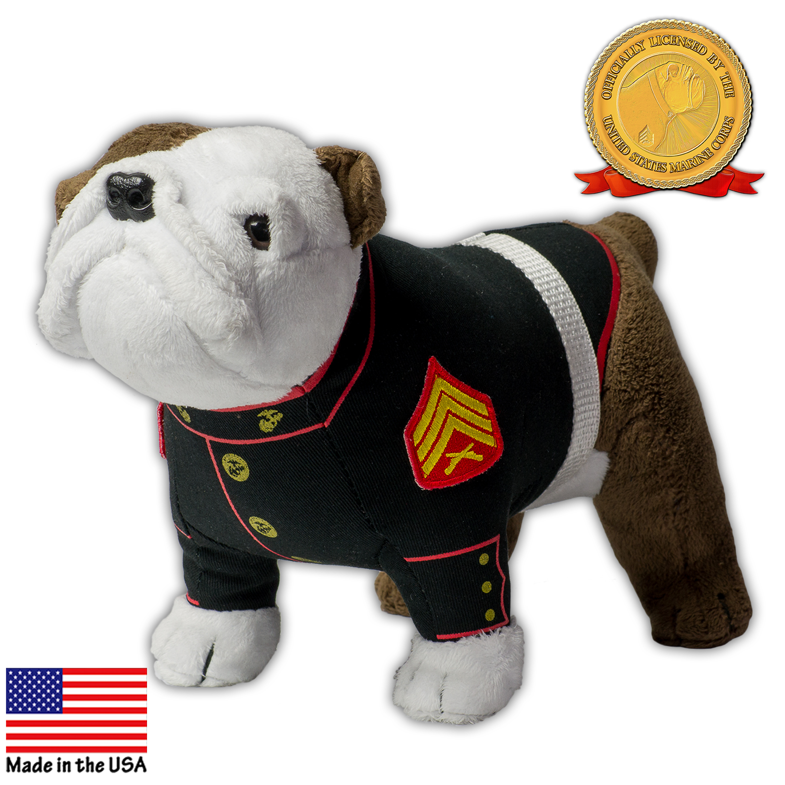 USMC Mascot in Dress Blues Plush
