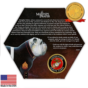 The Marine's Prayer Hexagonal Canvas